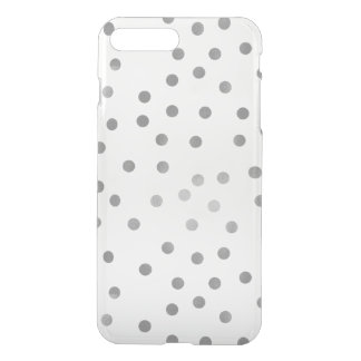 Silver Polka Dots iPhone 8 Plus/7 Plus Case