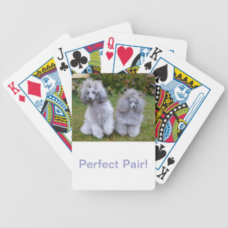 Silver Poodle Dog Playing Cards