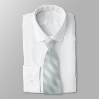 Silver Powder Blue Grey Striped Tie
