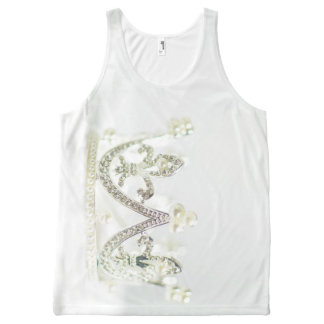 Silver Princess Crown All-Over-Print Tank Top