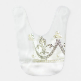 Silver Princess Crown Bibs