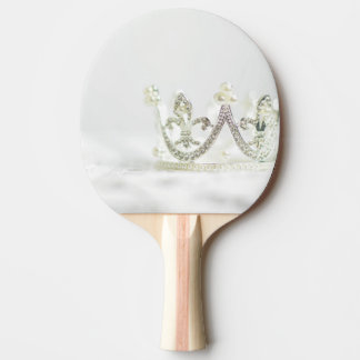 Silver Princess Crown Ping Pong Paddle