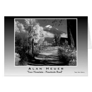 "Silver Print - ""Taos Mountain - Penetente Road"" Card"