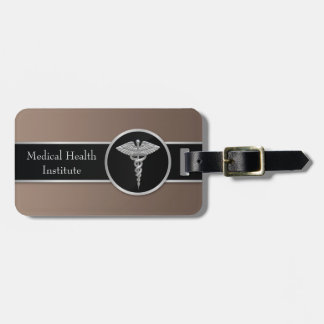 Silver Professional Medical Caduceus - Luggage Tag