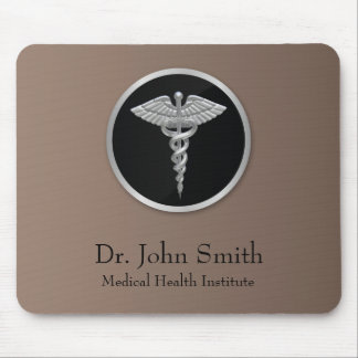 Silver Professional Medical Caduceus - Mousepad