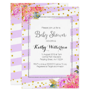 Purple and silver baby shower invitations announcements zazzle ca silver purple baby shower invitation filmwisefo Choice Image