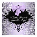 Silver Purple Black Princess Baby Girl Shower