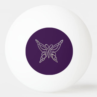 Silver Purple Celtic Butterfly Curling Knots Ping Pong Ball