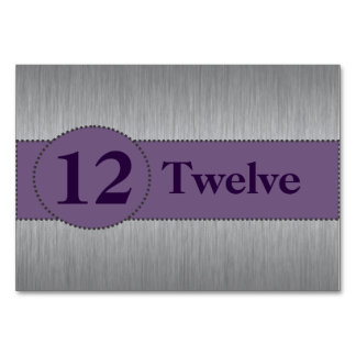 Silver & Purple Table Card Template