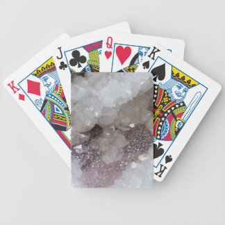 Silver & Quartz Crystal Bicycle Playing Cards