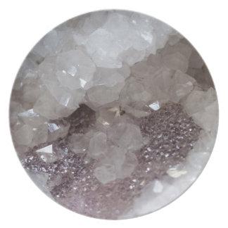 Silver & Quartz Crystal Plate