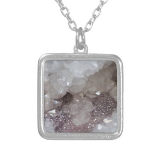 Silver & Quartz Crystal Silver Plated Necklace