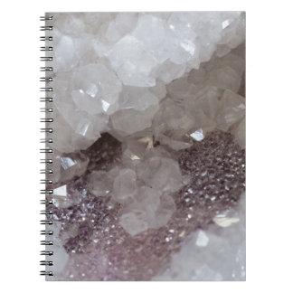 Silver & Quartz Crystal Spiral Notebook