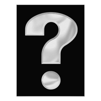 Silver Question Mark Poster