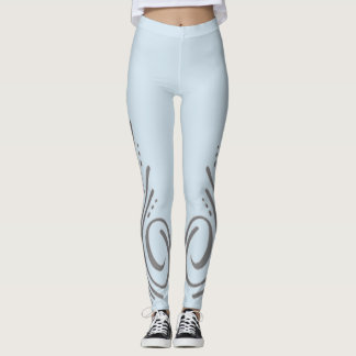 Silver Racing Pinstripes Leggings