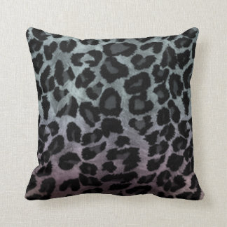 Silver Rainbow Effect Cheetah Throw Pillow