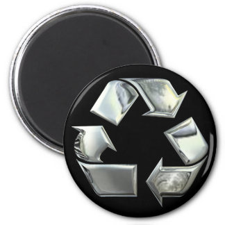 Silver Recycle Icon Magnet