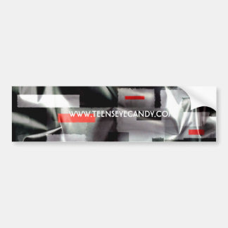 Silver Red Abstract Bumper Sticker