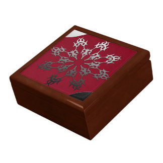 Silver Red Black Brick Ethnic Abstract Gift Box
