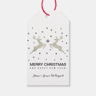 Silver Reindeers Gift Tags
