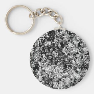 Silver ring background texture keychain