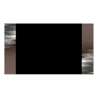 Silver Ripples On Black Business Cards