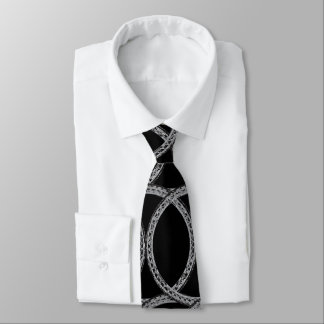 Silver Rope Patterned Tie