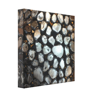 Silver Rounds Canvas Print