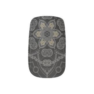 Silver Runic Blossom Minx Nail Art
