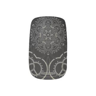 Silver Runic Knots Minx Nail Art