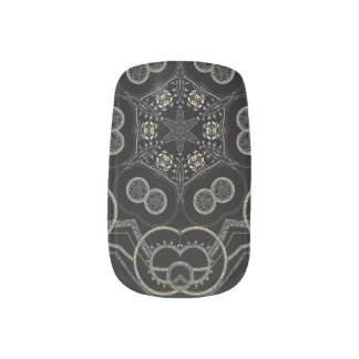 Silver Runic Rings Minx Nail Art