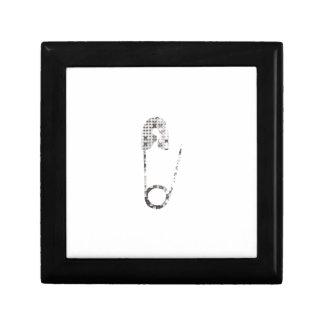 silver safety pins trinket box
