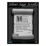 Silver Sage Scrolls™ 004: Aristotle; Character Poster