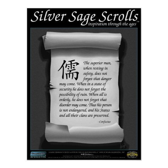 Silver Sage Scrolls™ 008: Confucius, Readiness Poster
