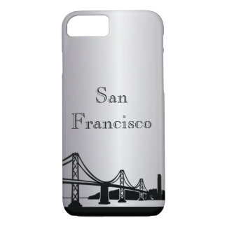 Silver San Francisco Silhouette Phone & Ipad Cases