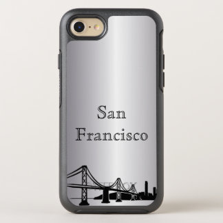 Silver San Francisco Skyline Silhouette Case