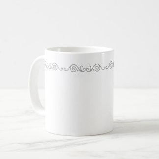 Silver Scroll Work Mug