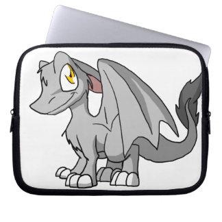 Silver SD Furry Dragon Laptop Sleeves