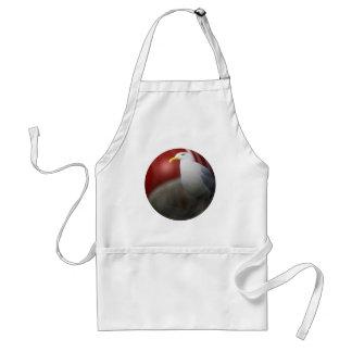 Silver sea gull standard apron