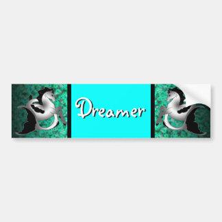 Silver Sea Horse Bumper Sticker