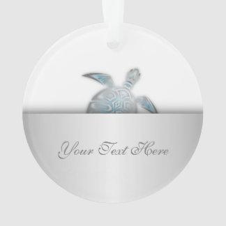 Silver Sea Turtle Animal Ornament