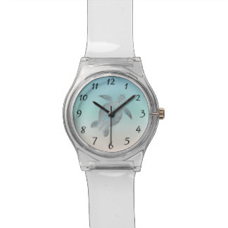 Silver Sea Turtle Numbers Watch