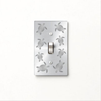 Silver  Sea Turtles Light Switch Cover