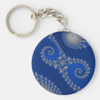 Silver Seahorse Keychain