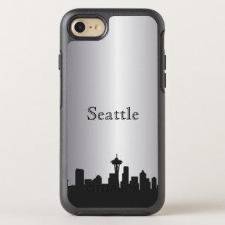Silver Seattle Skyline Silhouette Case