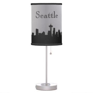 Silver Seattle Skyline Silhouette Lamp