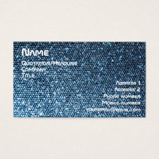 Silver Sequins Business Card