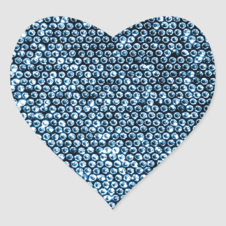 Silver Sequins Heart Sticker