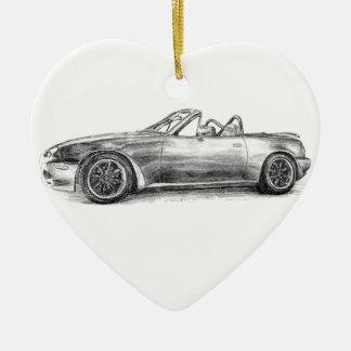 Silver Shadow MX5 Ceramic Heart Ornament