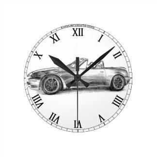 Silver Shadow MX5 Round Clock